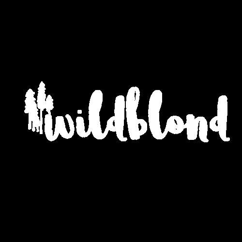 wildblond logo weiß mit transparentem hintergrund